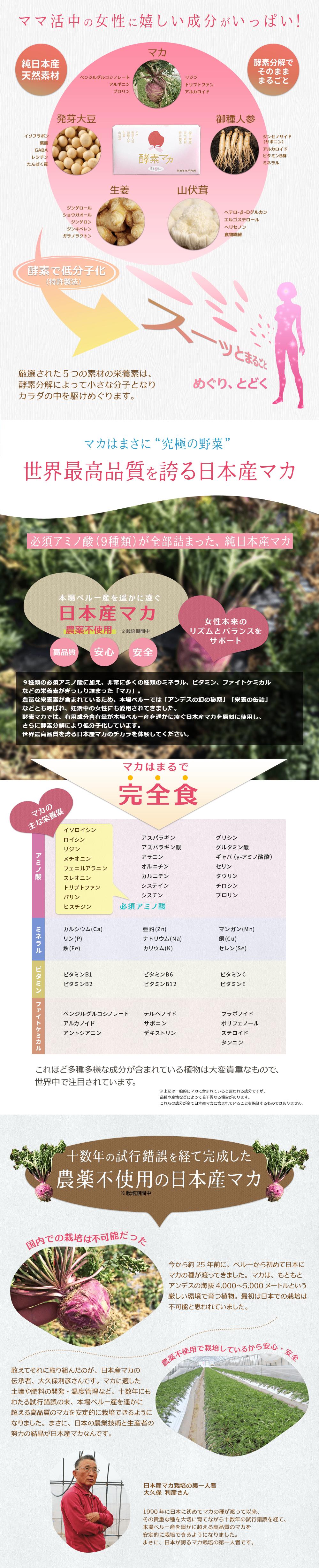 ママ活・妊活サプリ【酵素マカ】の効果と実績について03